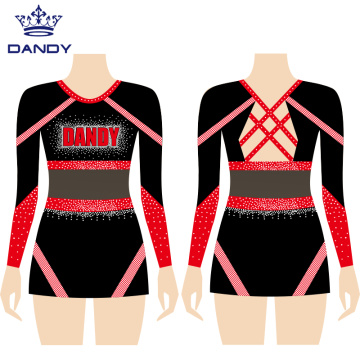 Custom cheer leotard top and skirt
