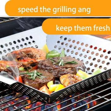 Grill Basket Pan Smoker Grilling Barbecue
