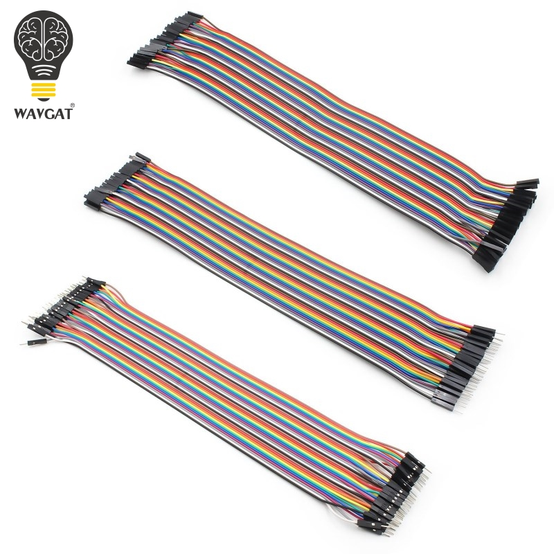 WAVGAT Dupont line 120pcs 30cm male to male + male to female and female to female jumper wire Dupont cable for Arduino