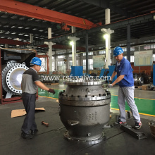 Cast Steel 2PCS Body Trunnion Mounted Ball Valve