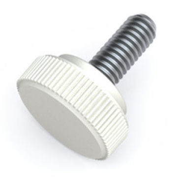 M3 knurled stainless steel Large head screw