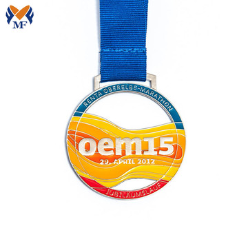 Make your own custom ribbon made enamel medals