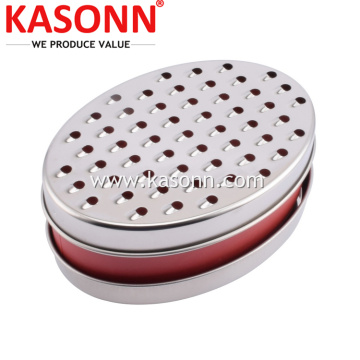 Double Sides Cheese Box Grater with Container