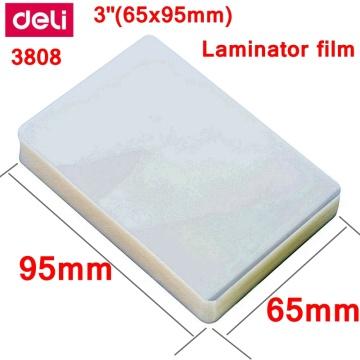 1 BAG 100PCS/lot Deli 3808 thermal laminating film 3