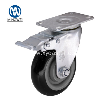 4 Inch Locking Caster Wheels with Brake