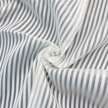 Striped Organza Fabric with Rayon for Women's Dress