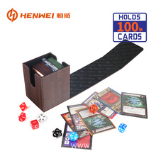 Classic PU Leather Board Game Deck Box