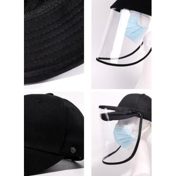 Prevent droplets snapback cap faceshield bucket mask