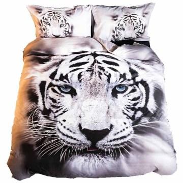 WOSTAR 100% Cotton bedding set Bed Sheet Duvet Cover Pillowcase 3d printed tiger Home Textiles Comforter Bedding Sets Bed Linen