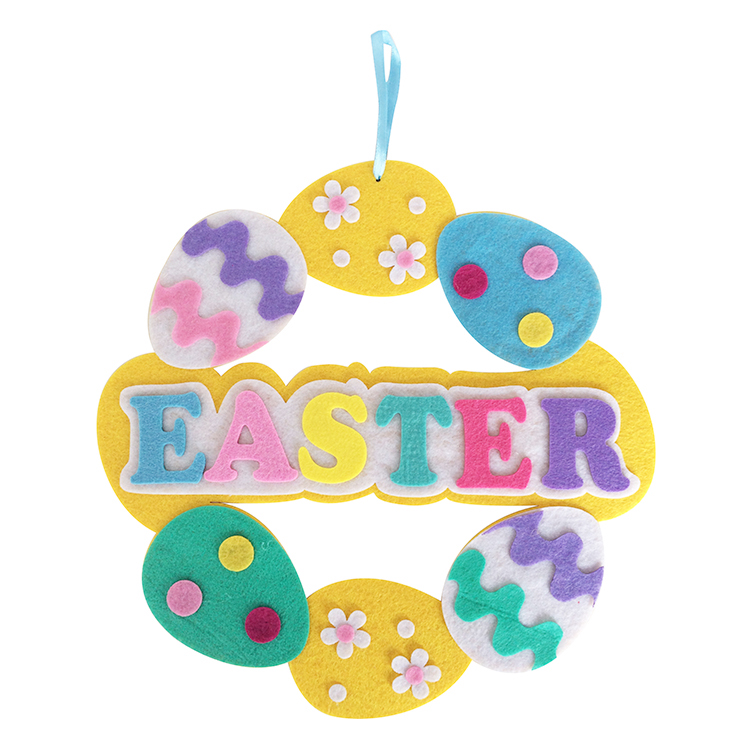 Easter Egg Shape Front Door Wreath