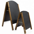 wooden A-Frame chalkboards with rounded tops