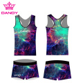 Sublimation Printing Fancy Spark Cheerleading Outfits