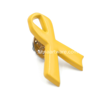 New products Yellow Ribbon Shape Promotional Gift Badges