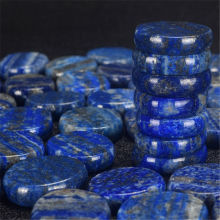 Natural Crystal Stone Healing Gemstones Lapis Lazuli Polished Palm Thumb Worry Stone Handicraft Fish Tank Decorating Home Decor