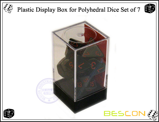Plastic Display Box for Polyhedral Dice Set of 7