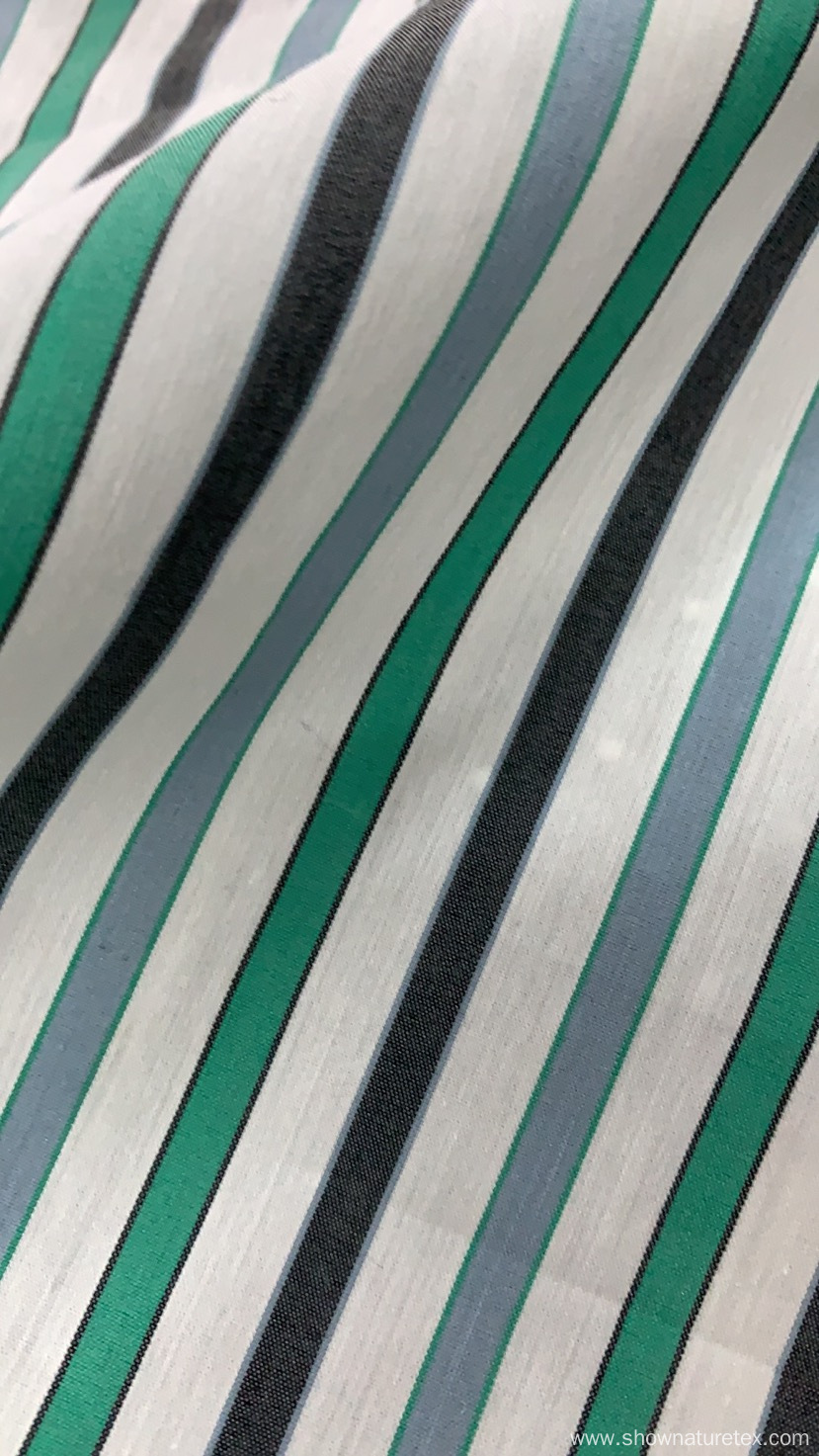 Cotton NYlon Stripes and Checks Fabric