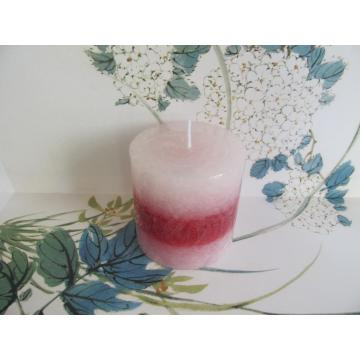Luxury Fragrance-free Layered Pillar Candle