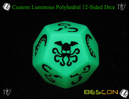 Custom Luminous Polyhedral 12-Sided Dice