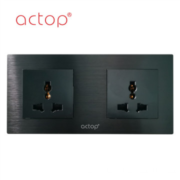 aluminum black switch socket