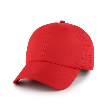 Outdoor baseball hat Perforated side panel performance cap