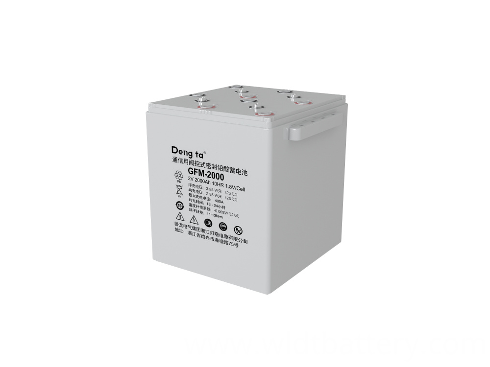 Lead Acid Battery, Valve Regulated Sealed Battery, 2V 2000Ah Battery