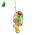 Customized Gold Fish Shape Glass Christmas Hanging Ornament