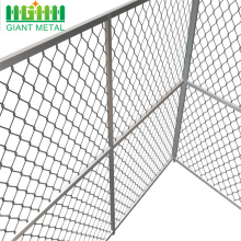 Chain Link Fence System With a Flat Design