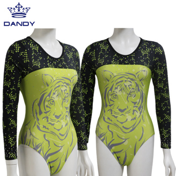 Wholesale long sleeve gynastics clothing