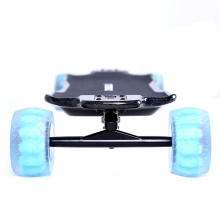 Double kingpin electric skateboard with direct drive motor