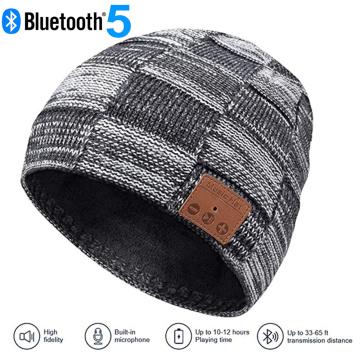 Wireless Bluetooth 5.0 Music Hat Cap Bluetooth Earphone Headphone Headset Speaker Call Listening Song Velvet Best Christmas Gift