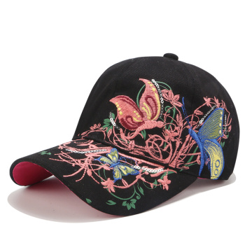 3D embroidery flowers Summer fall caps fashion woven
