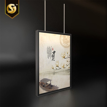 Lampu LED white wall decor poster display signs