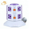 Universal White 2-USB 2-Layers Tower Socket