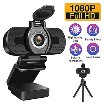 2MP 1080P Full HD CMOS Manual Focus USB Webcam Vlog Video Live Streaming Online Conference Web Camera with Microphone
