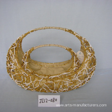 Boat-like Weaving Paper Rope Gift Basket