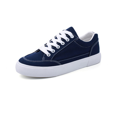 Blue Lace up Canvas Shoes for Girl