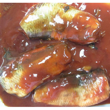 Herring Canned Fish In Tomato Sauce With Oil