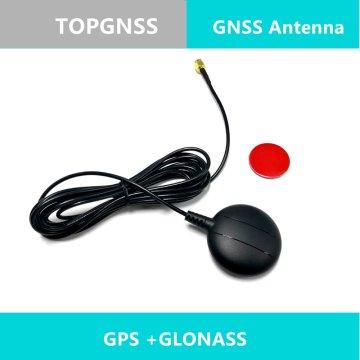 External GPS GLONASS Dual antenna,High-precision active patch ceramic antenna,GNSS GLONASS antenna,SMA male Straight connector
