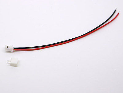 30 SETS Mini Micro JST 2.0 PH 2-Pin Connector plug with Wires Cables 120MM