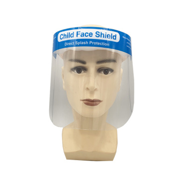 Disposable plastic transparent splash face shield