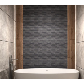 Easy-to-clean bathroom glass mosaic tiles