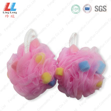 Shiny soft cleansing mesh sponge ball