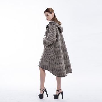 Fashion big button cashmere overcoat