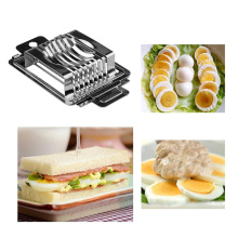 Multifunction 2in1 Cooking Tools Cut Kitchen Egg Slicer Sectione Cutter Mold Tomato Cutter Section Chopper Flower Edges Gadgets