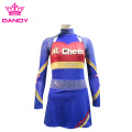 Kain Metallic Navy Blue Cheer Seragam