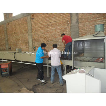 stone coating antique glazed steel making machine