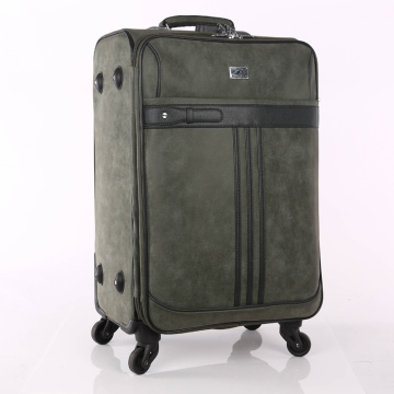 Different color PU vintage trolley luggage sets