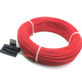 100m 17ohm multipurpose 24k PTFE carbon fiber heating cable 5V-220V floor heating high quality infrared heating wire warm floor
