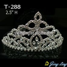 Crystal Wedding Hair Jewelry Small Pageant Queen Tiara
