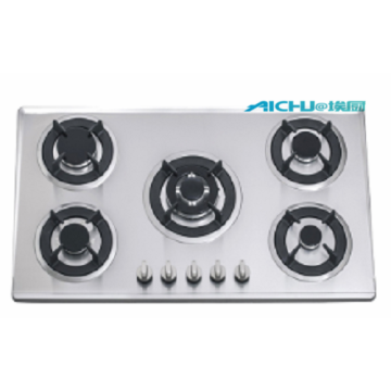 Stainless Steel Top 5 Burners Built-in Gas Stove